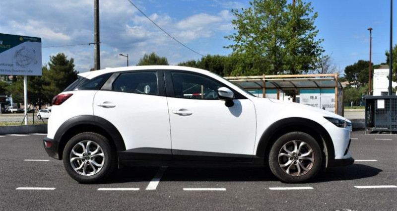 Mazda CX-3 1.5 D 105 Ch GARANTIE Blanc occasion à ANTIBES - photo n°4