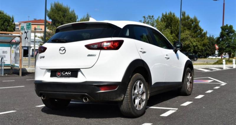 Mazda CX-3 1.5 D 105 Ch GARANTIE Blanc occasion à ANTIBES - photo n°5
