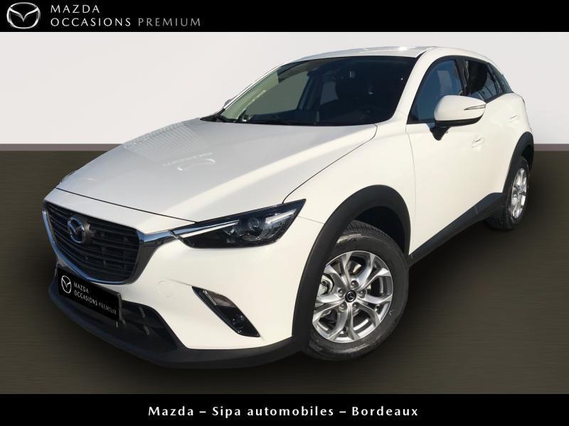 Mazda CX-3 2.0 SKYACTIV-G 120 Dynamique BVA Blanc occasion à Mérignac