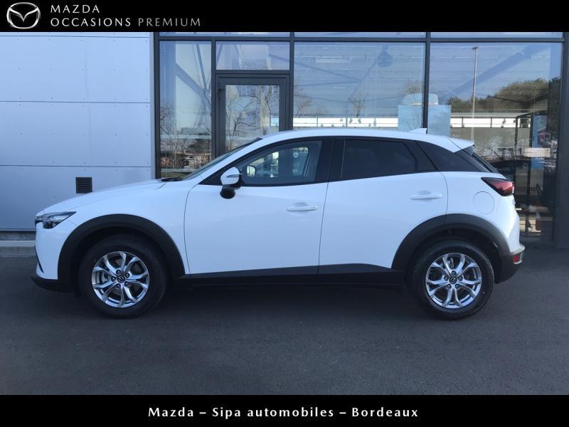 Mazda CX-3 2.0 SKYACTIV-G 120 Dynamique BVA Blanc occasion à Mérignac - photo n°4