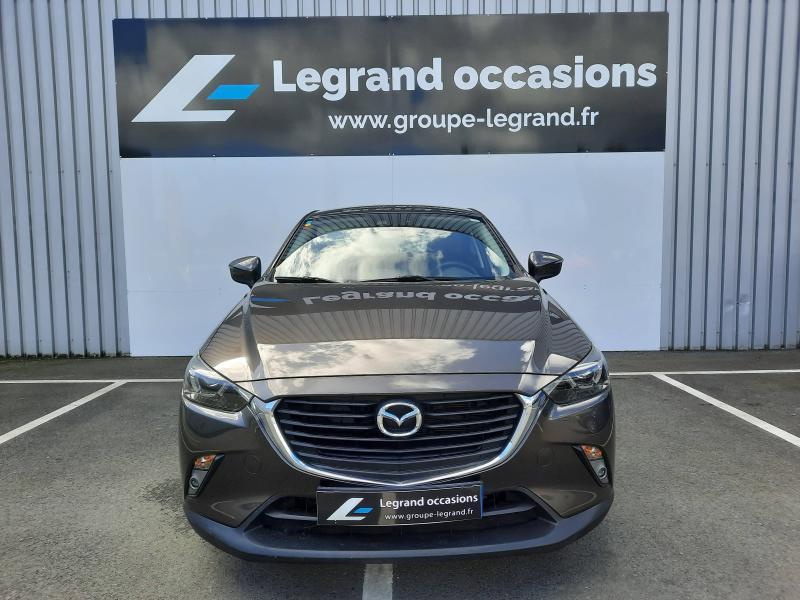 Mazda CX-3 2.0 SKYACTIV-G 120 Dynamique BVA Gris occasion à Saint-Brieuc - photo n°2