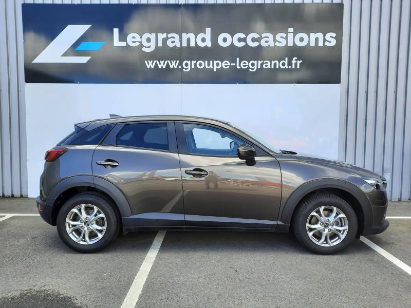 Mazda CX-3 2.0 SKYACTIV-G 120 Dynamique BVA Gris occasion à Saint-Brieuc - photo n°4