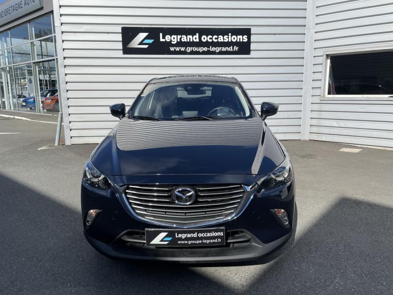 Mazda CX-3 2.0 SKYACTIV-G 120 Signature Bleu occasion à Saint-Brieuc - photo n°3