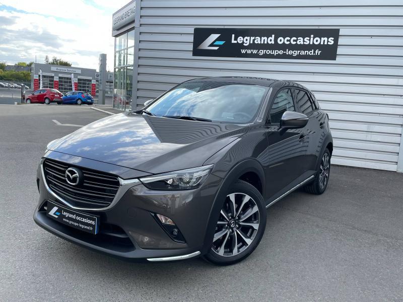 Mazda CX-3 2.0 SKYACTIV-G 121ch Sélection Euro6d-T Gris occasion à Saint-Brieuc