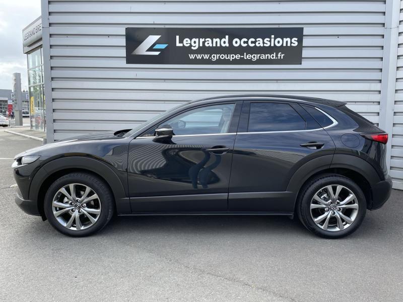 Mazda CX-30 2.0 Skyactiv-X M-Hybrid 180ch Exclusive 2020 Noir occasion à Saint-Brieuc - photo n°5