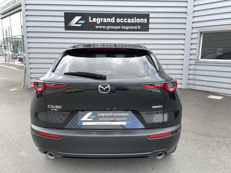 Mazda CX-30 2.0 Skyactiv-X M-Hybrid 180ch Exclusive 2020 Noir occasion à Saint-Brieuc - photo n°4