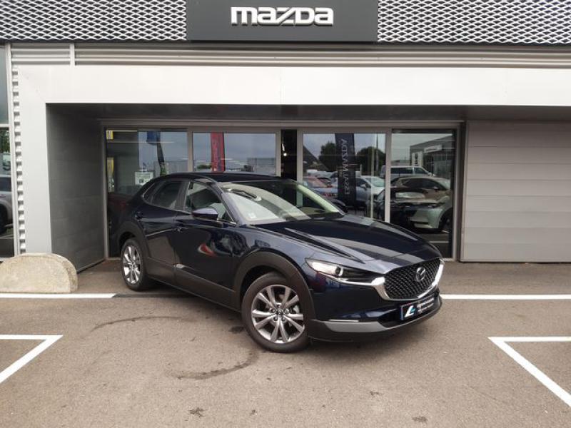 Mazda CX-30 2.0 Skyactiv-X M-Hybrid 186ch Inspiration 2021 Bleu occasion à Cesson-Sévigné - photo n°2