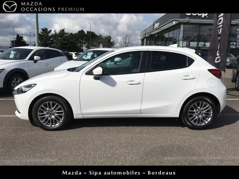 Mazda Mazda 2 1.5 SKYACTIV-G M-Hybrid 90ch Signature Blanc occasion à Mérignac - photo n°3
