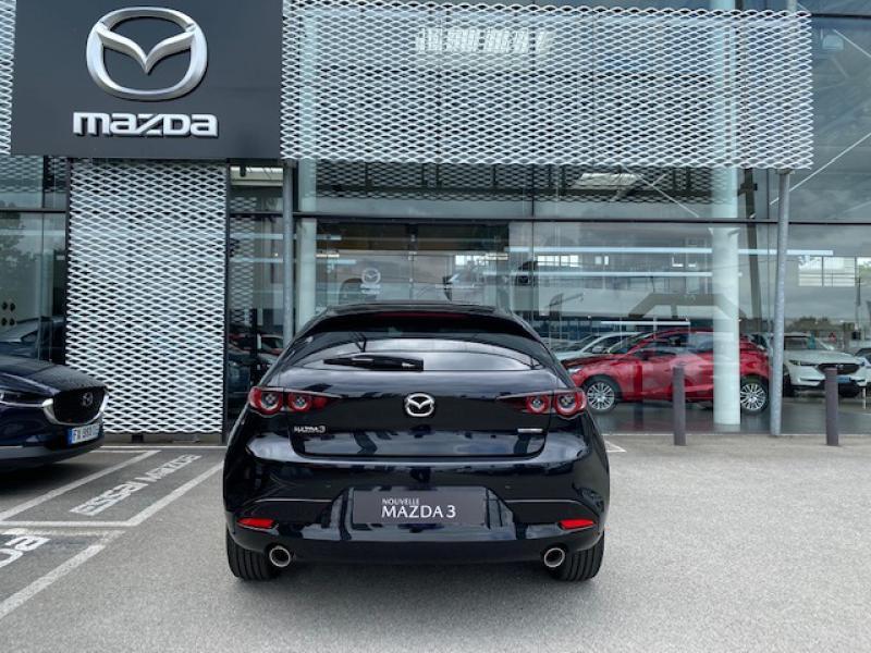 Mazda Mazda 3 2.0 e-Skyactiv-X M-Hybrid 186ch Exclusive BVA Noir occasion à Saint-Herblain - photo n°5