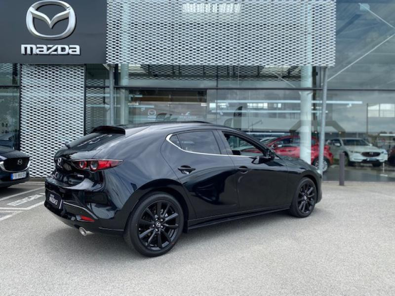 Mazda Mazda 3 2.0 e-Skyactiv-X M-Hybrid 186ch Exclusive BVA Noir occasion à Saint-Herblain - photo n°4