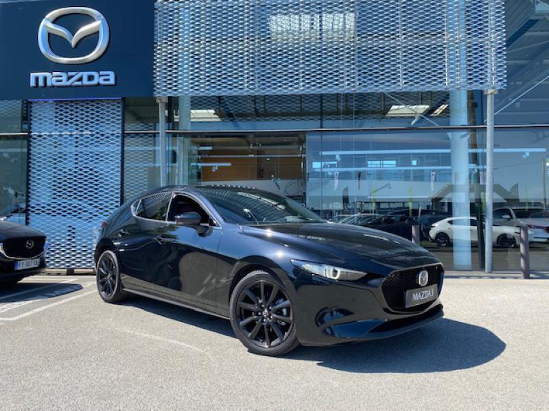 Mazda Mazda 3 2.0 e-Skyactiv-X M-Hybrid 186ch Exclusive BVA Noir occasion à Saint-Herblain