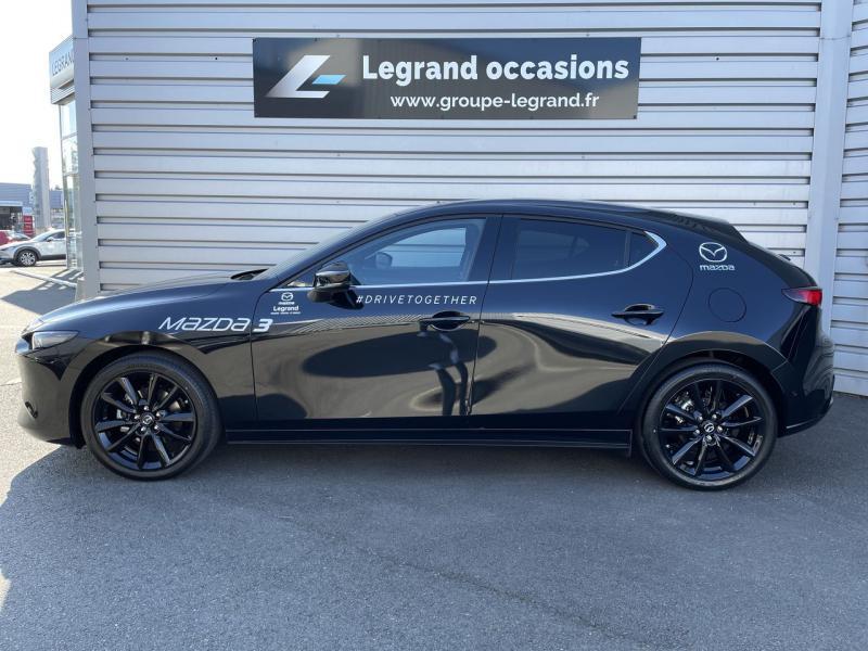 Mazda Mazda 3 2.0 e-Skyactiv-X M-Hybrid 186ch Sportline Noir occasion à Saint-Brieuc - photo n°3