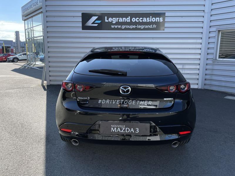 Mazda Mazda 3 2.0 e-Skyactiv-X M-Hybrid 186ch Sportline Noir occasion à Saint-Brieuc - photo n°4