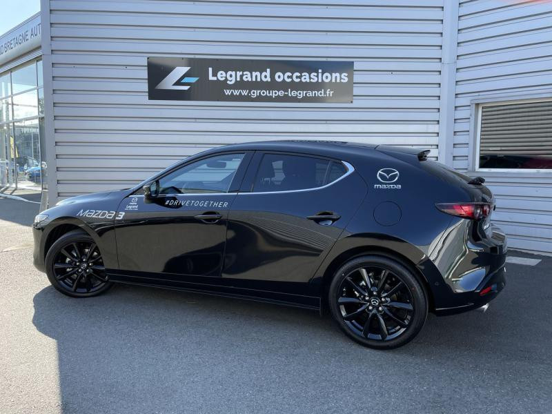Mazda Mazda 3 2.0 e-Skyactiv-X M-Hybrid 186ch Sportline Noir occasion à Saint-Brieuc - photo n°6