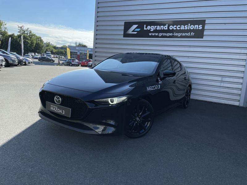 Mazda Mazda 3 2.0 e-Skyactiv-X M-Hybrid 186ch Sportline Noir occasion à Saint-Brieuc