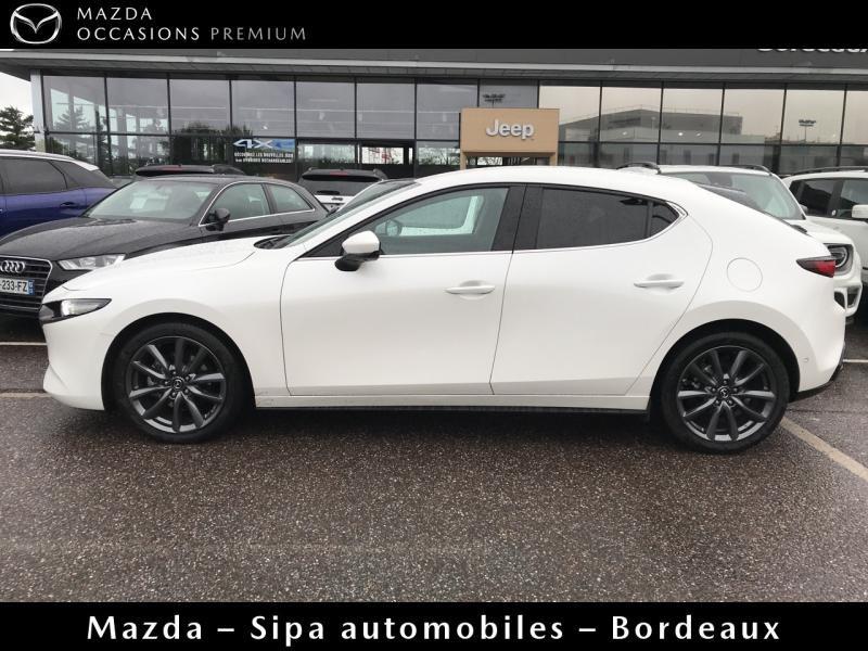 Mazda Mazda 3 2.0 Skyactiv-G M-Hybrid 122ch Sportline Evap Blanc occasion à Mérignac - photo n°4