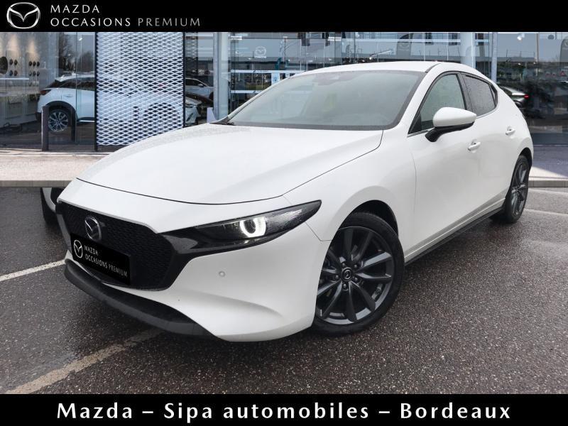 Mazda Mazda 3 2.0 Skyactiv-G M-Hybrid 122ch Sportline Evap Blanc occasion à Mérignac
