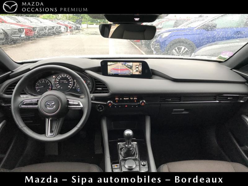 Mazda Mazda 3 2.0 Skyactiv-G M-Hybrid 122ch Sportline Evap Blanc occasion à Mérignac - photo n°7