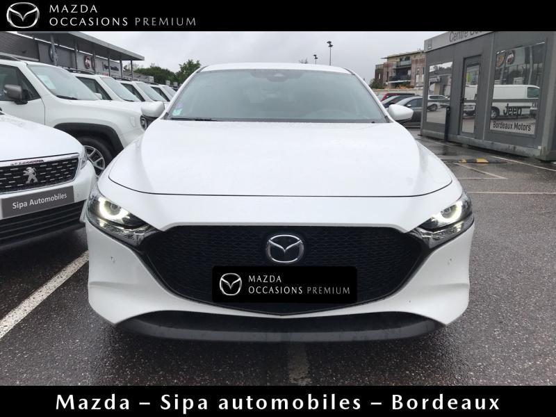 Mazda Mazda 3 2.0 Skyactiv-G M-Hybrid 122ch Sportline Evap Blanc occasion à Mérignac - photo n°2