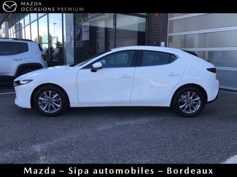 Mazda Mazda 3 2.0 Skyactiv-X M-Hybrid 180ch Business Executive Evap 10cv Blanc occasion à Mérignac - photo n°4