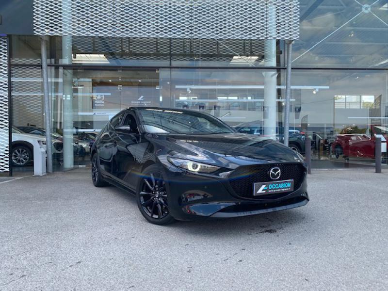Mazda Mazda 3 2.0 Skyactiv-X M-Hybrid 180ch Exclusive Evap 10cv Noir occasion à Saint-Herblain