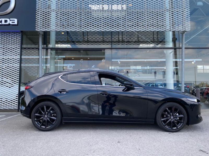 Mazda Mazda 3 2.0 Skyactiv-X M-Hybrid 180ch Exclusive Evap 10cv Noir occasion à Saint-Herblain - photo n°2