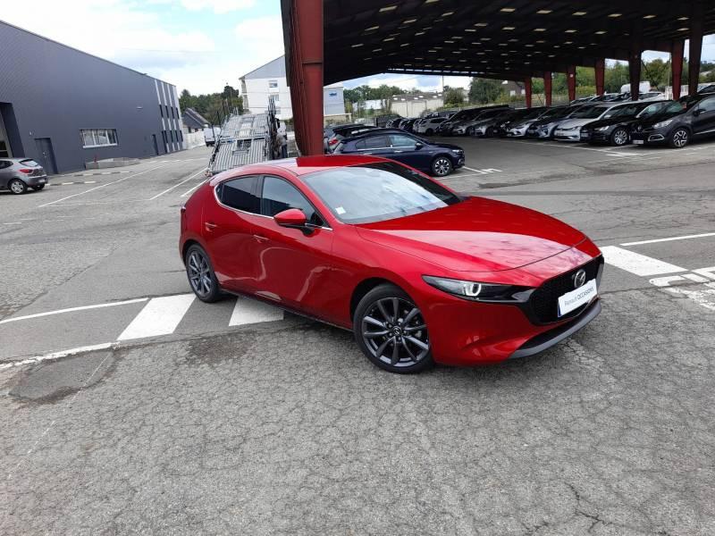 Mazda Mazda 3 5 PORTES 2.0L SKYACTIV-G M Hybrid 122 ch BVA6 Sportline Rouge occasion à VANNES
