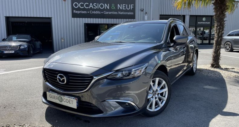 Mazda Mazda 6 FW 2.2 SKYACTIV-D 150 DYNAMIQUE BVA Gris occasion à GUER - photo n°2