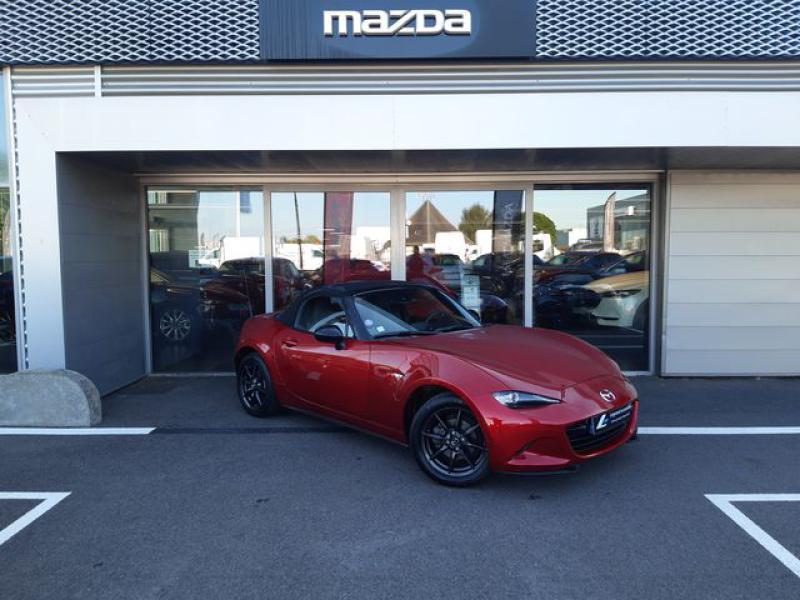 Mazda MX-5 1.5 SKYACTIV-G 131 Sélection Rouge occasion à Cesson-Sévigné - photo n°2