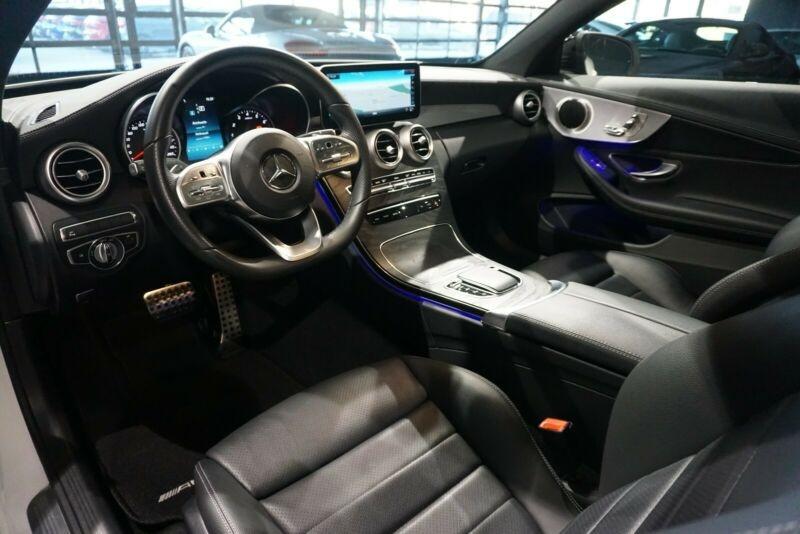 Mercedes Classe C 200 (C205) 200 184CH AMG LINE 9G-TRONIC EURO6D-T Blanc occasion à Villenave-d'Ornon - photo n°5