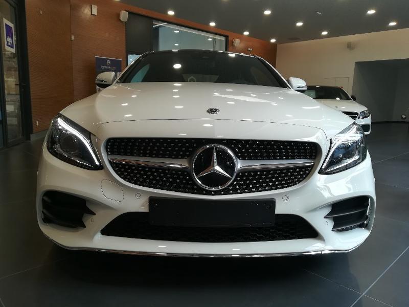 Mercedes Classe C 200 200 184ch AMG Line 9G-Tronic Euro6d-T Blanc occasion à PERPIGNAN - photo n°2