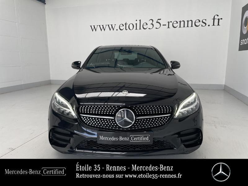 Mercedes Classe C 200 200 d 160ch AMG Line 9G-Tronic Noir occasion à SAINT-GREGOIRE - photo n°5