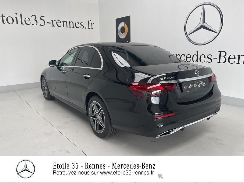 Mercedes Classe E 220 220 d 194ch AMG Line 9G-Tronic Noir occasion à SAINT-GREGOIRE - photo n°3