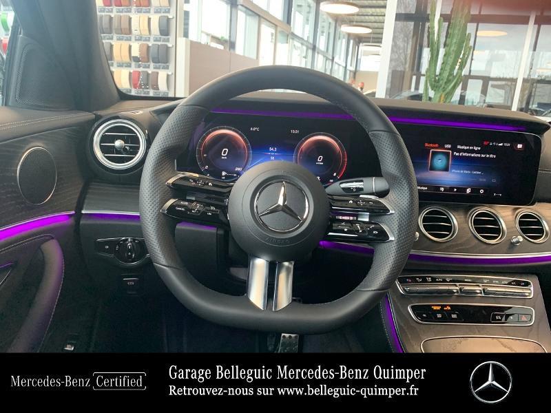 Mercedes Classe E 220 220 d 194ch AMG Line 9G-Tronic Noir occasion à QUIMPER - photo n°7