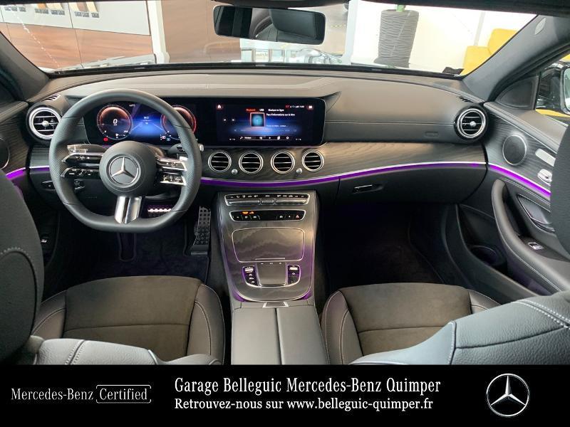 Mercedes Classe E 220 220 d 194ch AMG Line 9G-Tronic Noir occasion à QUIMPER - photo n°6