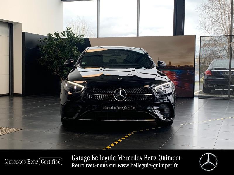 Mercedes Classe E 220 220 d 194ch AMG Line 9G-Tronic Noir occasion à QUIMPER - photo n°5