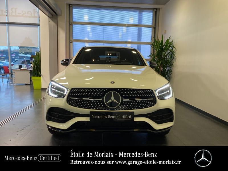 Mercedes GLC 220 d 194ch AMG Line 4Matic 9G-Tronic Blanc occasion à Saint Martin des Champs - photo n°5