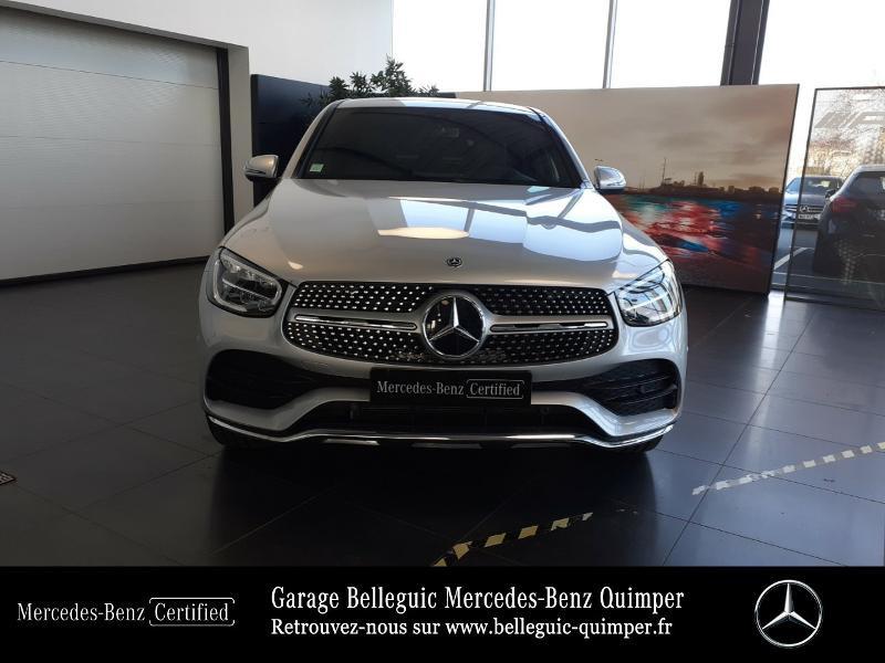 Mercedes GLC 300 d 245ch AMG Line 4Matic 9G-Tronic Argent occasion à QUIMPER - photo n°5