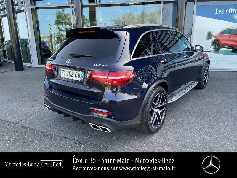 Mercedes GLC 63 AMG 476ch 4Matic+ 9G-Tronic Euro6d-T Bleu occasion à SAINT-MALO - photo n°3