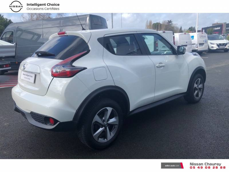 Nissan Juke 1.5 dCi 110 FAP EU6.c Start/Stop System N-Connecta Blanc occasion à Chauray - photo n°13