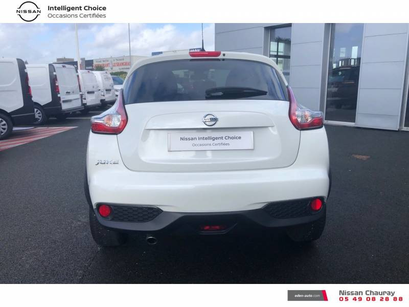 Nissan Juke 1.5 dCi 110 FAP EU6.c Start/Stop System N-Connecta Blanc occasion à Chauray - photo n°4