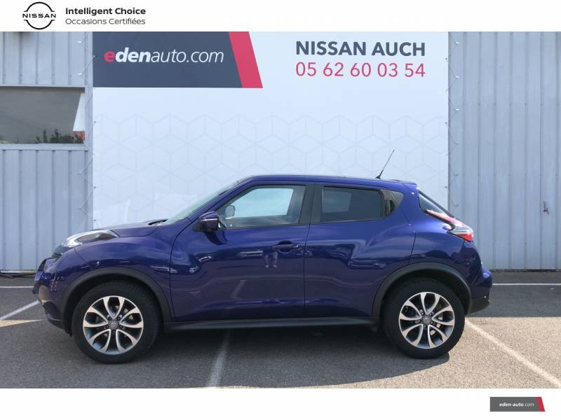 Nissan Juke 1.5 dCi 110 FAP Start/Stop System Tekna Bleu occasion à Auch - photo n°2