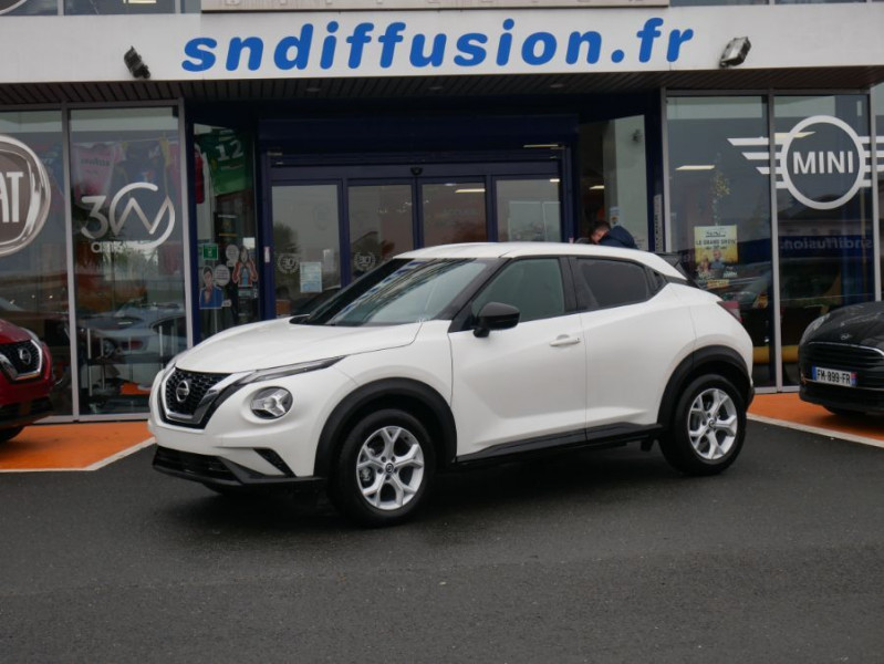 Nissan Juke NEW 1.0 DIG-T 117 DCT N-CONNECTA GPS Full LED Caméra Keyless Blanc occasion à Toulouse