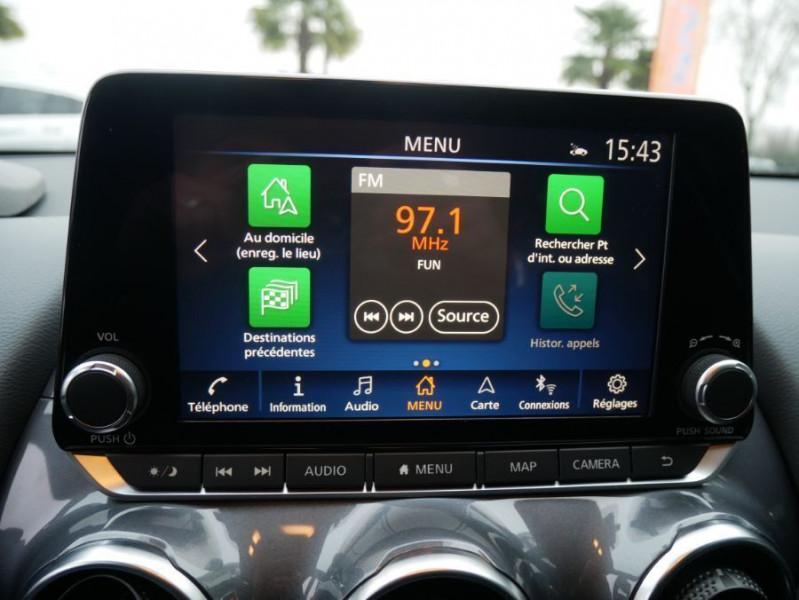 Nissan Juke NEW 1.0 DIG-T 117 DCT N-CONNECTA GPS Full LED Caméra Keyless Blanc occasion à Cahors - photo n°18