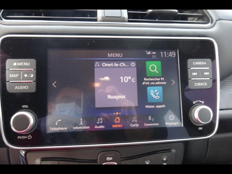 Nissan Leaf 150ch 40kWh Acenta 19.5 Blanc occasion à Rodez - photo n°8