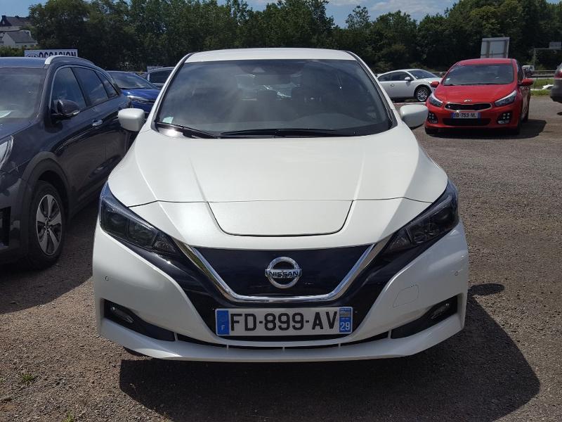 Nissan Leaf 150ch 40kWh Acenta 2018 Blanc occasion à Quimper - photo n°1