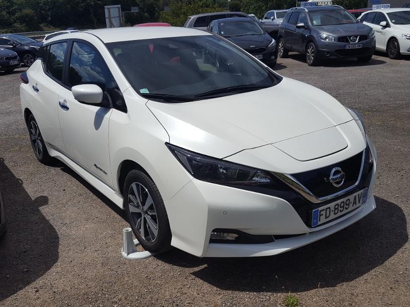 Nissan Leaf 150ch 40kWh Acenta 2018 Blanc occasion à Quimper - photo n°2