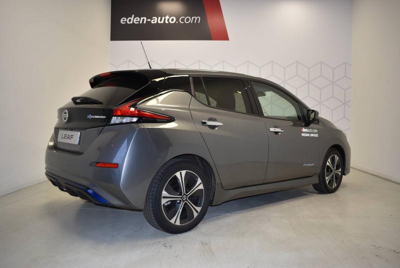 Nissan Leaf Leaf Electrique 40kWh Tekna 5p Gris occasion à Limoges - photo n°3