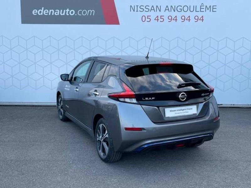 Nissan Leaf Leaf Electrique 62kWh Tekna 5p Gris occasion à Champniers - photo n°3