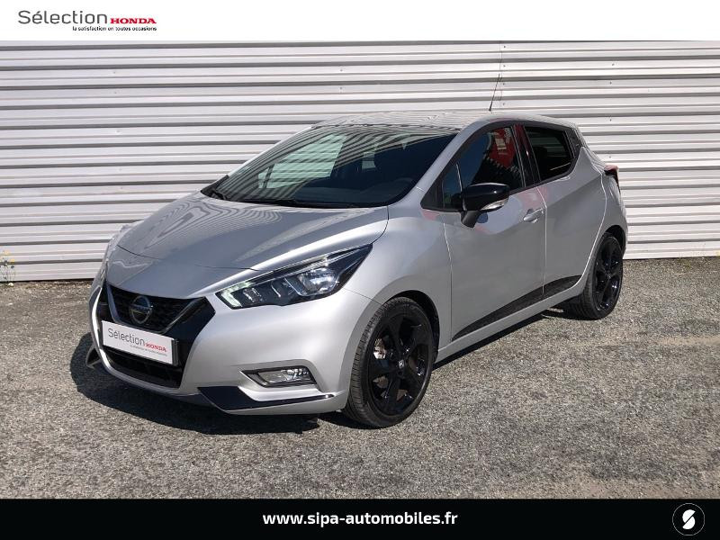 Nissan Micra 1.0 IG-T 100ch N-TEC Xtronic 2020 Argent occasion à Mérignac